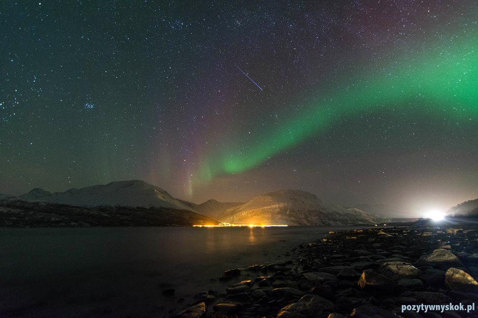 Zorza polarna w norweskim Skibotn