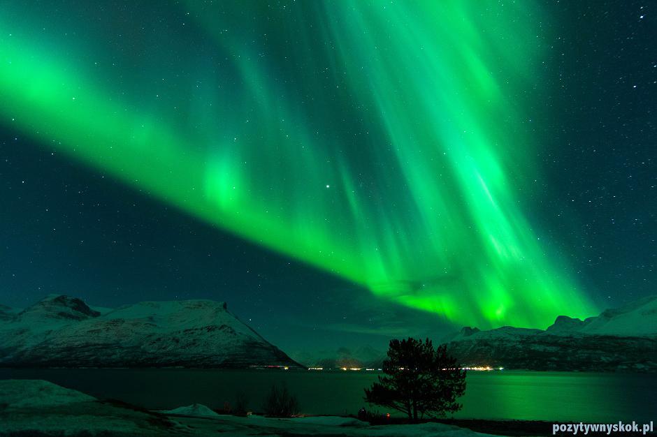 Tańcząca zorza polarna - foto