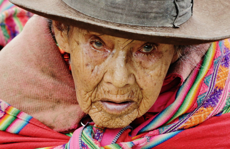 Kobieta na peruwiańskim bazarze