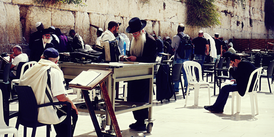 Zdjęcia z Jerozolimy - przed Ścianą Płaczu