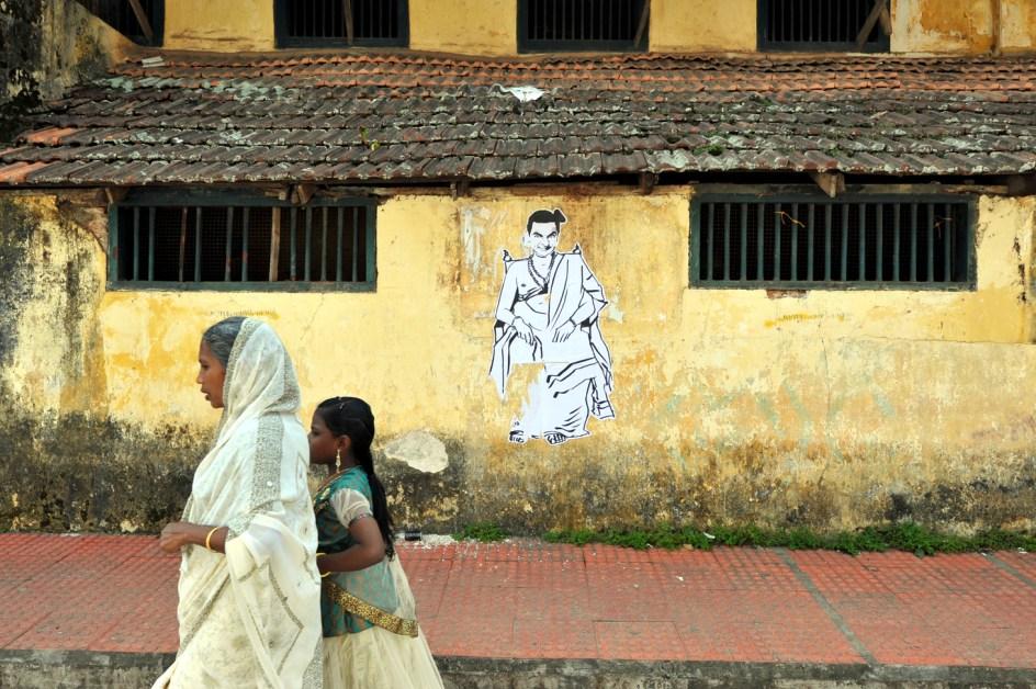 Mural w Indiach