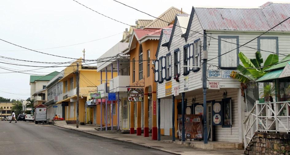 Księgarnia w Saint Johns, stolicy Antigui i Barbudy