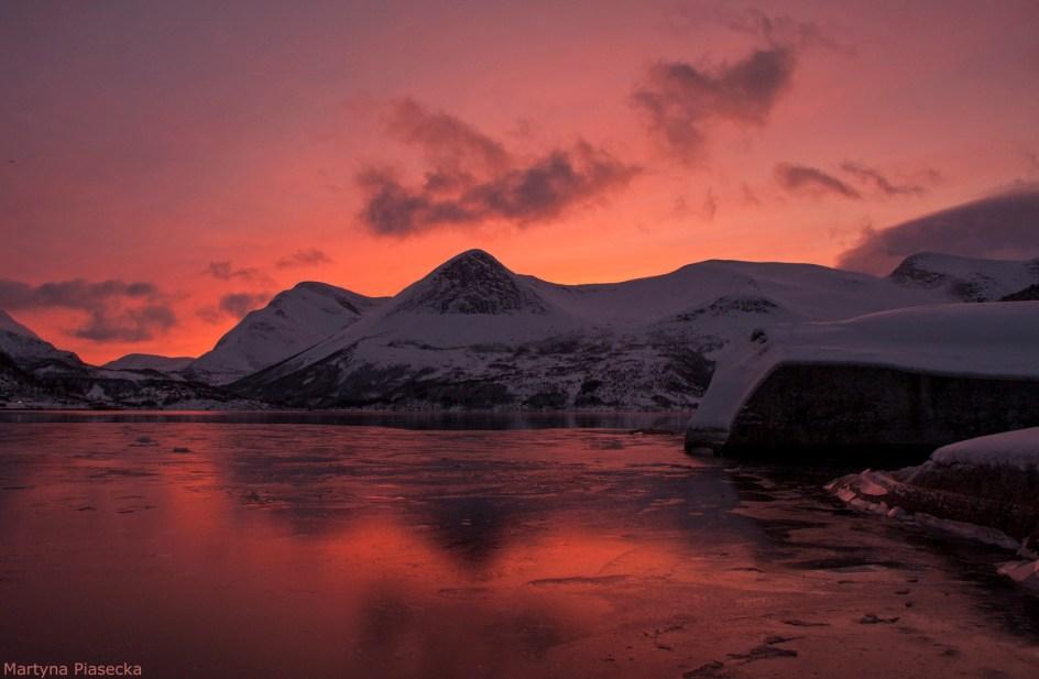Norwegia, malowniczy zachód słońca - zdjęcia z podróży