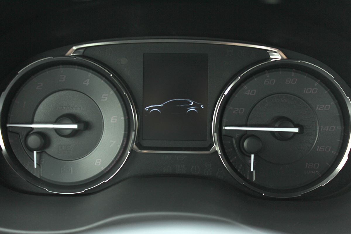 hight resolution of the actual gauge cluster found in the sti and wrx share the same basic construction with the super nice bright faces with white needles