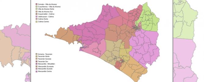 Así queda el nuevo mapa electoral de Colima