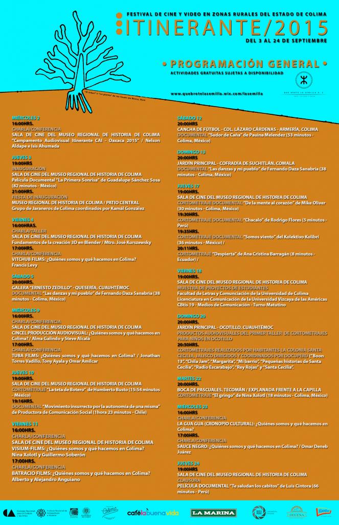 Itinerante 2015 - Programa general (última versión)