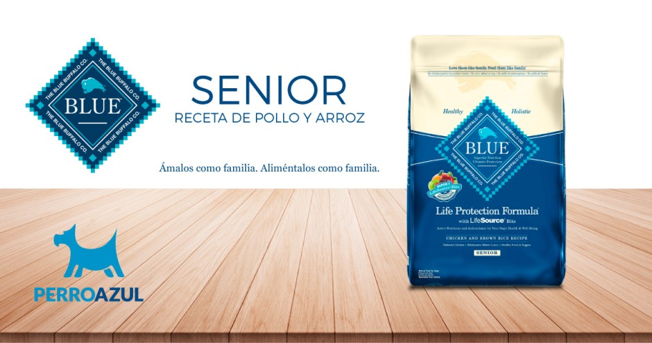 Blue Buffalo Senior Receta de Pollo y Arroz
