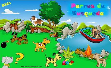 """alt=""""Perros detectores perrosdebusqueda Kids"""""""