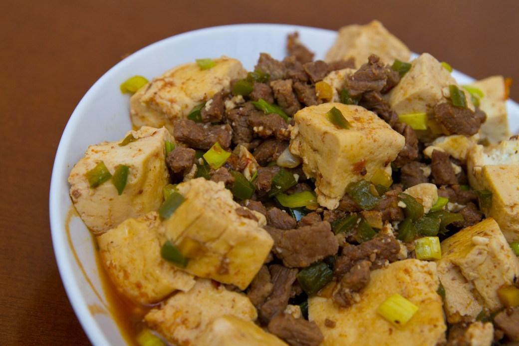 Plato de Mapo Tofu
