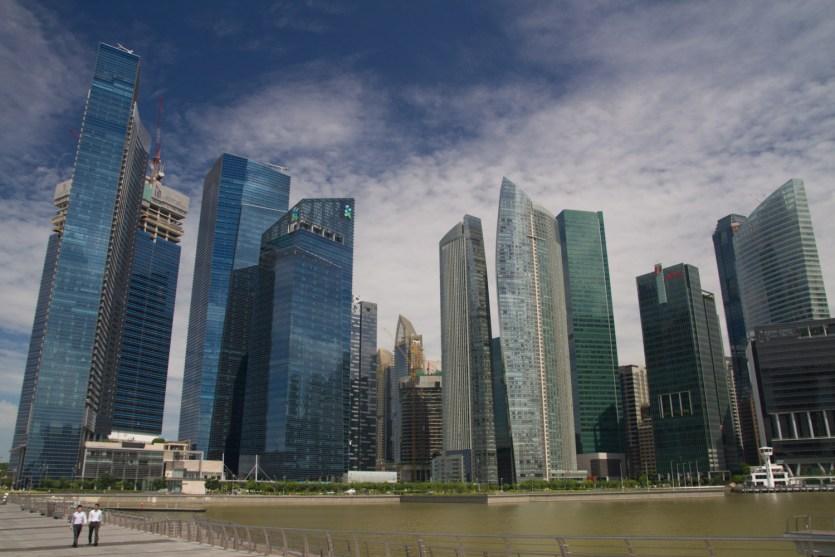 El Central Business District (CBD) de Singapur