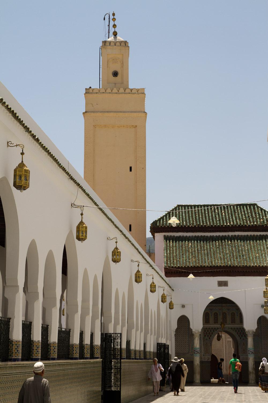 Entrada al Mausoleo de Idriss I - Moylay Idriss, Marruecos
