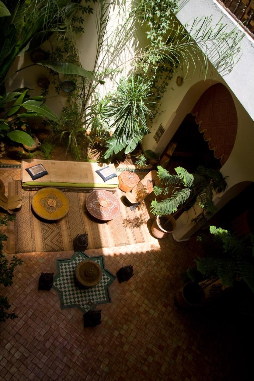 Patio interior de la Maison d'Hôtes Riad Bahia - Meknès, Marruecos
