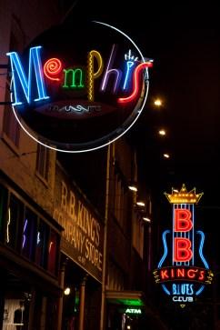 Beale Street, Memphis, EE.UU., cuna del blues