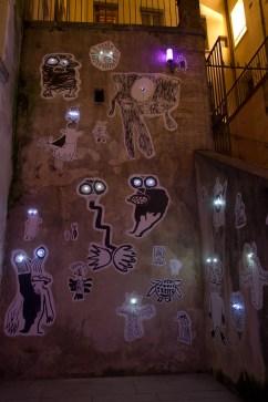 """Fête des lumières 2011 de Lyon, Francia: """"Même pas peur!"""" en Cours des Voraces"""