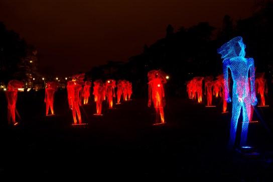 """Fête des lumières 2011 de Lyon, Francia: """"Le mythe de la Tête d'Or"""" en el Parc de la Tête d'Or"""