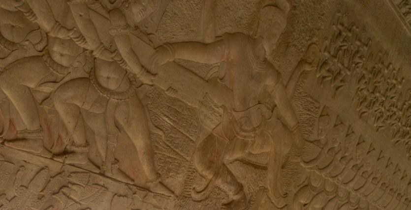 Relieve del Samudra manthan, Angkor Wat, Camboya