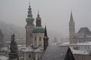 Tormenta de nieve en Salzburgo, Austria