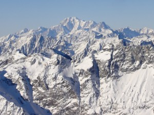 Mont Blanc, visto desde Klein Matterhorn, Suiza