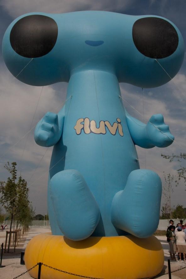 Fluvi, la mascota de la Expo '08 de Zaragoza, España