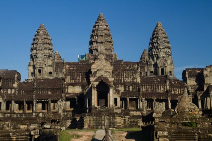 Parte posterior de Angkor Wat, Siem Riep, Camboya