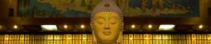 Un salón del templo de los diez mil budas, en los Nuevos Territorios de Hong Kong