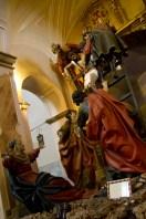 Talla El Descendimiento, del siglo XVII, en Valladolid, España