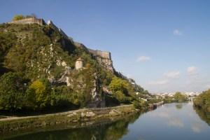 Ciudadela de Vauban y río Doubs, Besanzón, Francia