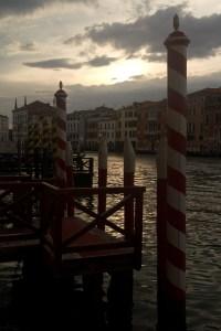 Atardecer en el Gran Canal de Venecia