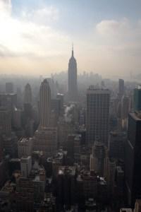 Manhattan y el Empire State Building, vistos desde el mirador de Top of the Rock, Nueva York, EE.UU.