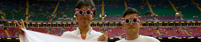 Fans japoneses en las Olimpiadas de Londres 2012