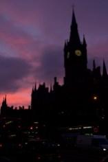 Atardecer en la estación de Saint Pancras, Londres, Reino Unido