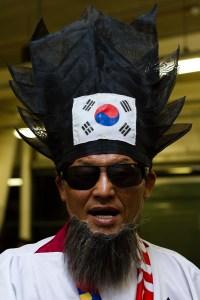 Un surcoreano bien disfrazado en las Olimpiadas de Londres 2012