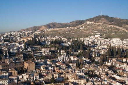 El barrio medieval del Albaicín, Granada, España
