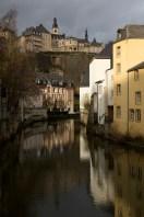 Haute Ville vista desde el Grund, Luxemburgo, Luxemburgo