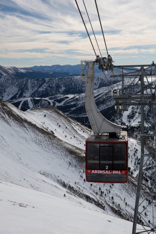 Teleférico entre las estaciones de Arinsal y Pal, Andorra