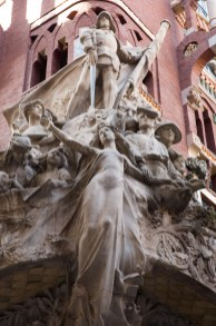 Escultura de la fachada del Palau de la Música Catalana, Barcelona, España