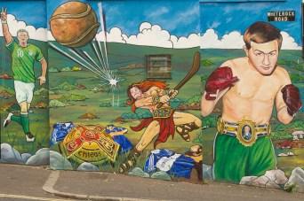 Mural de deportes irlandeses, Belfast, Irlanda del Norte