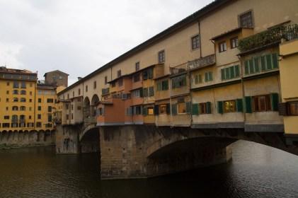 Exterior del Ponte Vecchio, Florencia, Italia