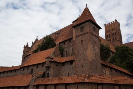 Castillo alto de la fortaleza de Malbork, Polonia