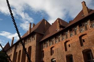 Castillo medio de la fortaleza de Malbork, Polonia