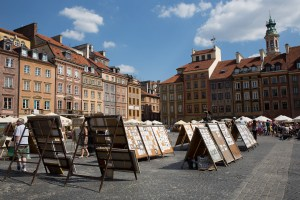 Plaza del mercado, Varsovia, Polonia