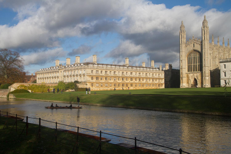 King's College y río Cam, Cambridge, Inglaterra