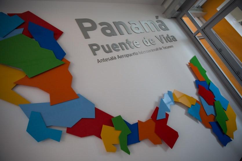 Antesala del Biomuseo de Panamá