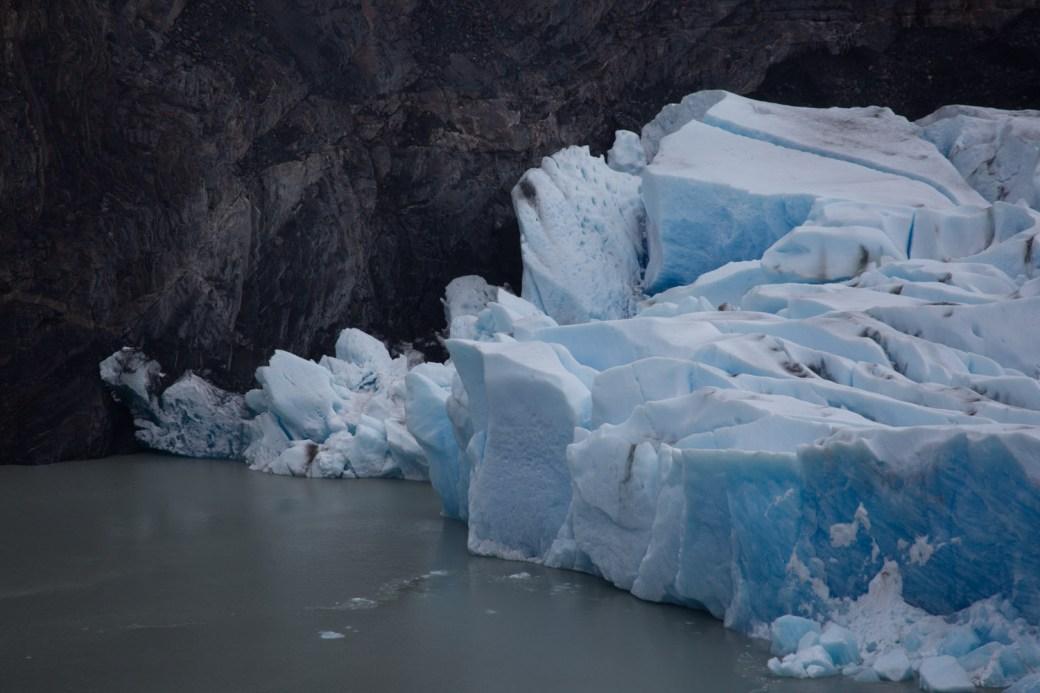 Detalle del glaciar Grey, Torres del Paine, Chile