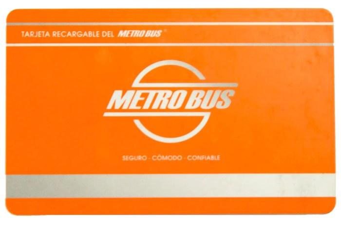 Tarjeta de Metrobús de Panamá