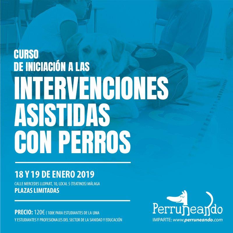 Curso_Intervenciones Asistidas con Perros Málaga