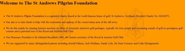 St Andrews Pilgrim Foundation - About