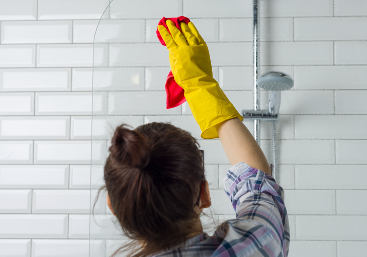 how to clean soap scum perry homes