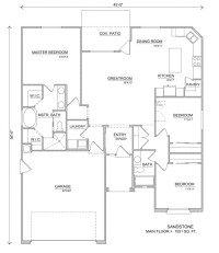 Sandstone | House Floor Plans - Perry Homes