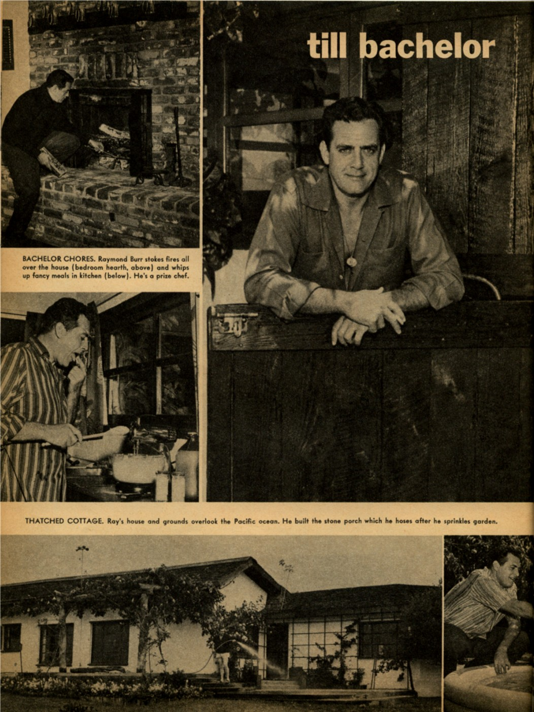 Raymond Burr TV Star Parade August 1958